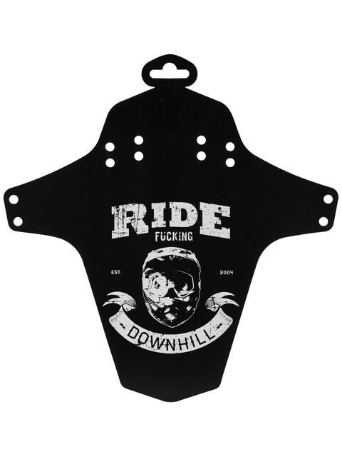 Reverse Ride Fucking Downhill - Garde-boue - blanc/noir